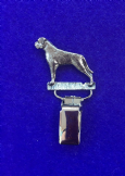 Dog Show Breed Ring Number Clip - Boxer - FULL BODY Silver or Gold Style
